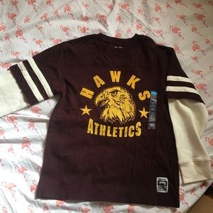 Burgundy Hawk Athletics Shirt